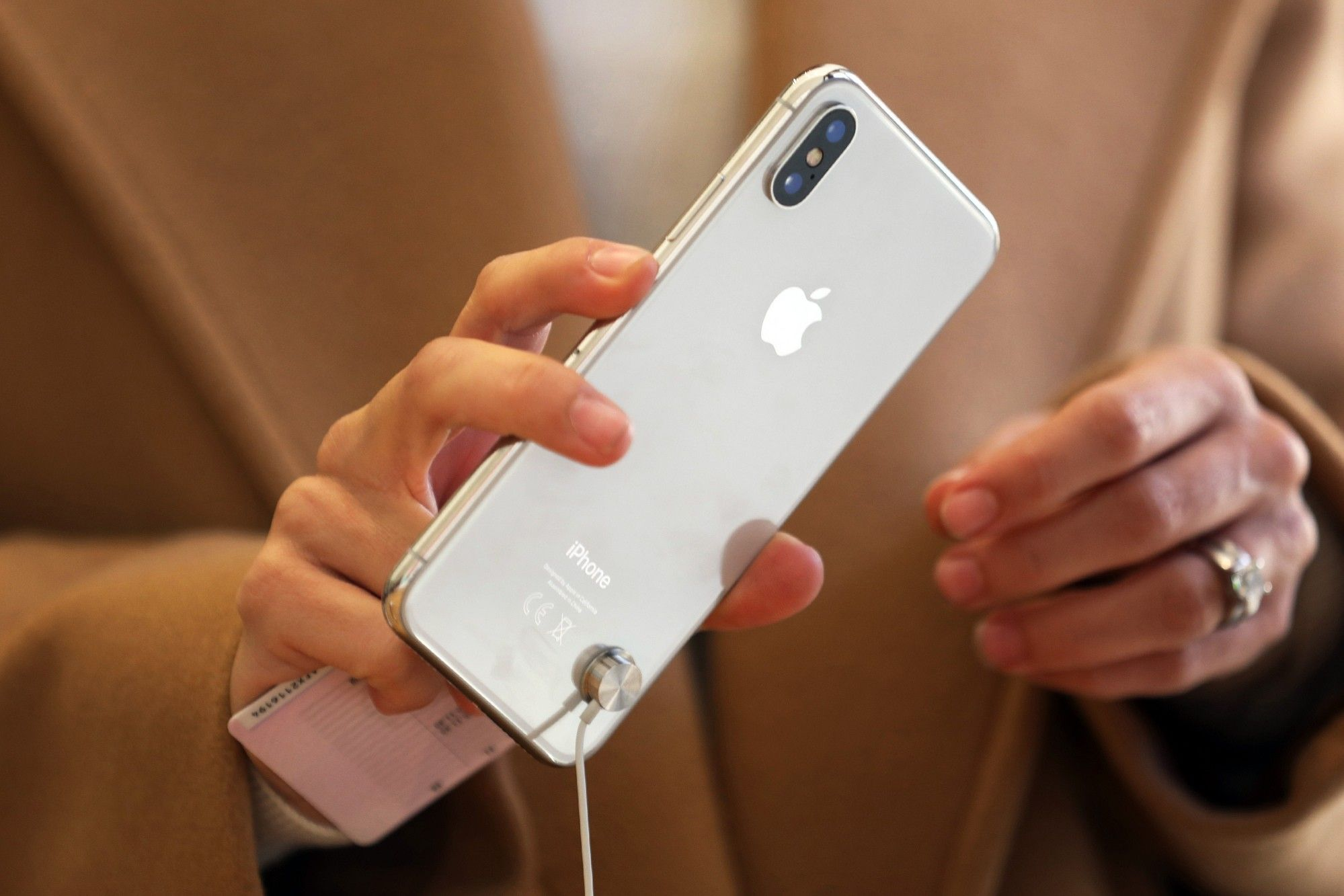 Apple Inc.'s iPhone X Arrives in Stores