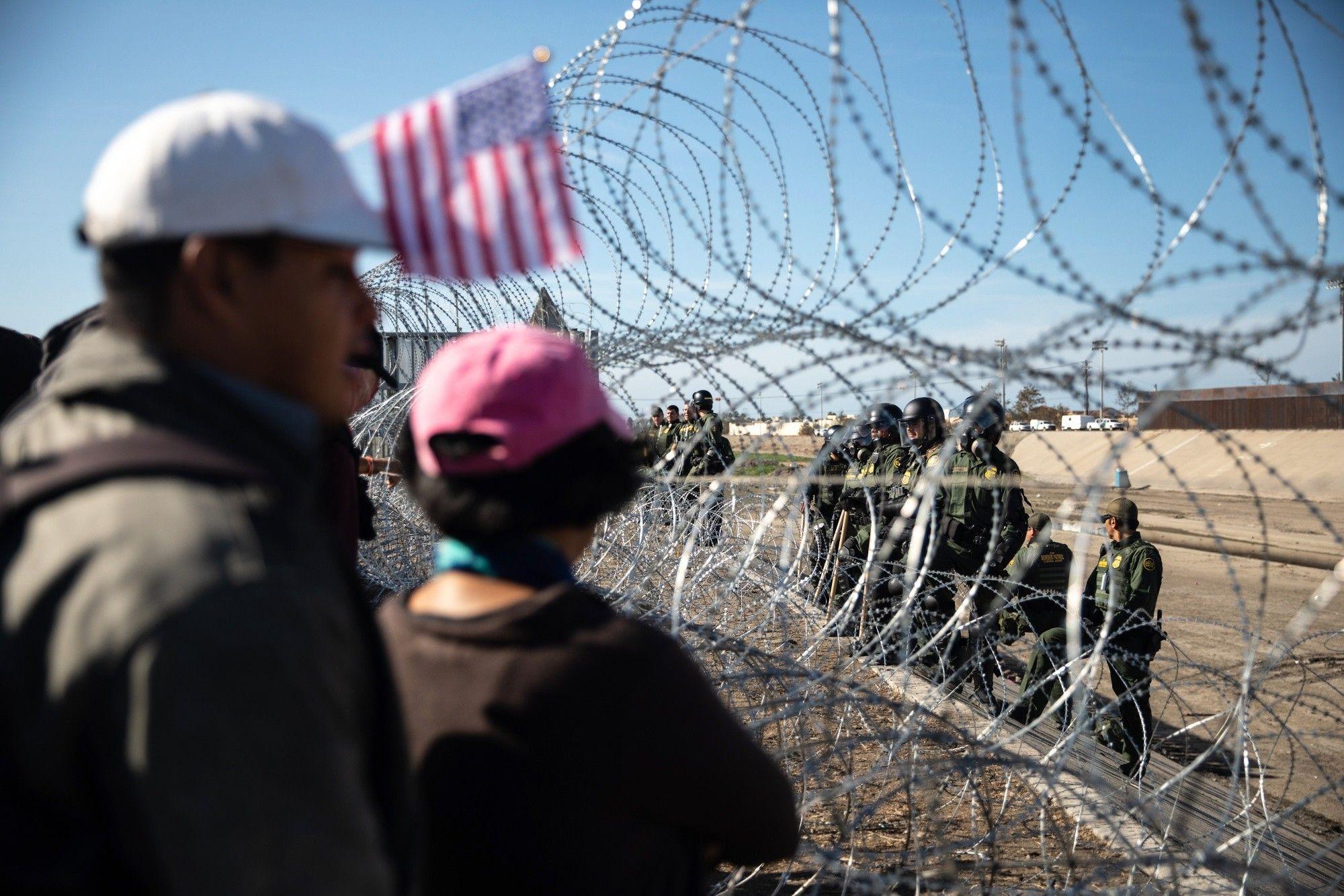 Central American Migrants In Tijuana As Tension Rise Amid U.S. Agents Border Crossing Closure