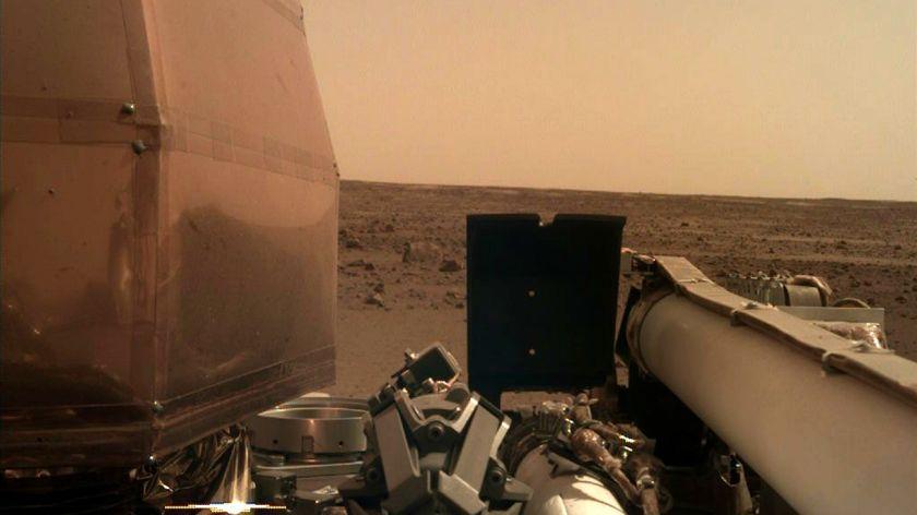 Misión espacial InSight de la NASA aterriza en Marte