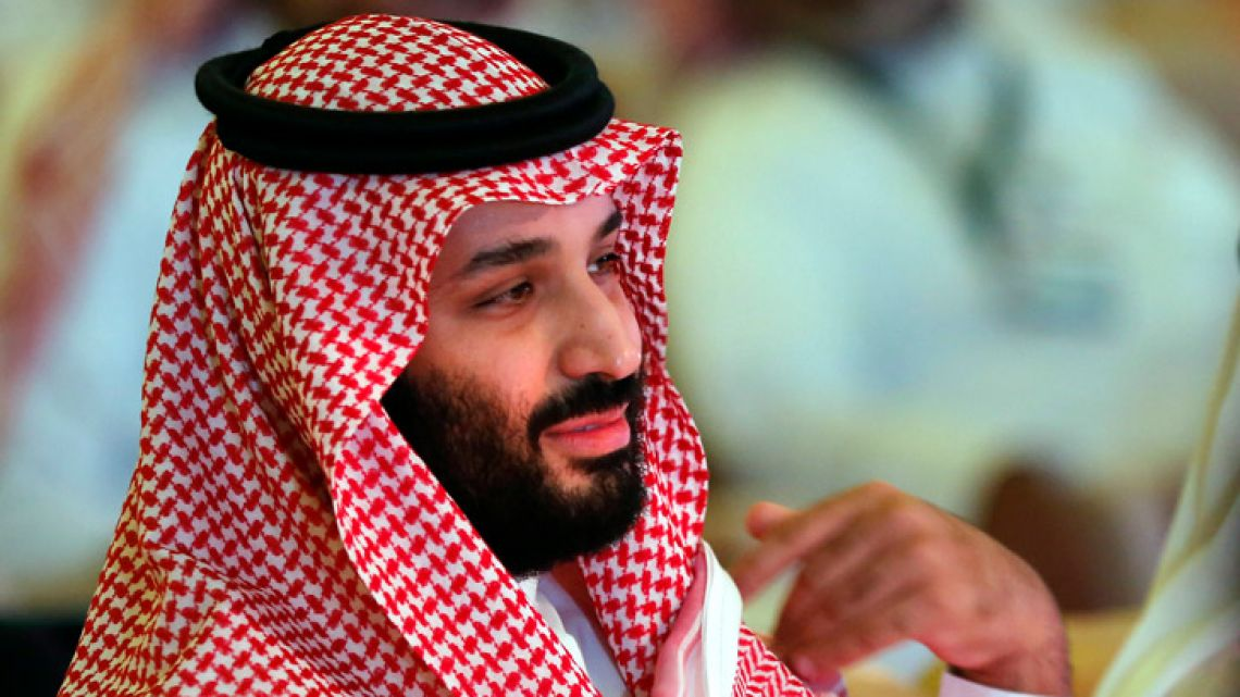 Saudi Crown Prince Mohammed bin Salman attends the second day of the Future Investment Initiative conference in October 2018 in Riyadh, Saudi Arabia.