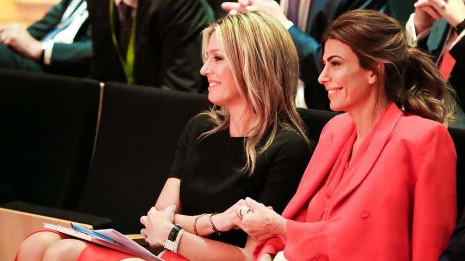Juliana Awada con la Reina Máxima de Holanda