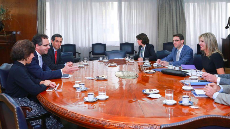 Reunión de trabajo entre la Reina Máxima, en su calidad de representante de la ONU, junto a los titulares del BCRA.