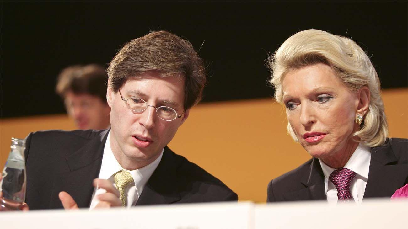 Georg Schaeffler, y su madre, Maria-Elisabeth Schaeffler-Thumann