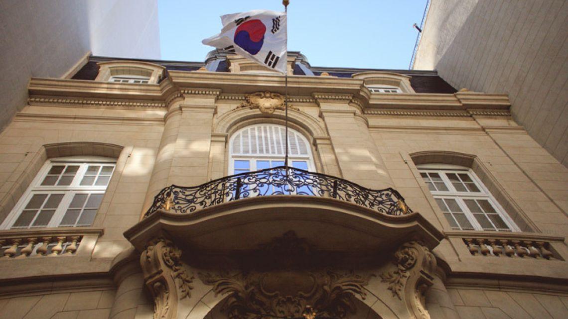 The facade of the new South Korean Cultural Centre, at the Palacio Bencich in Retiro.
