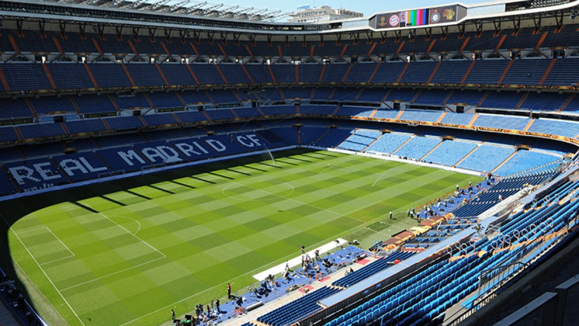 Real Madrid's Santiago Bernabeu stadium in Madrid.