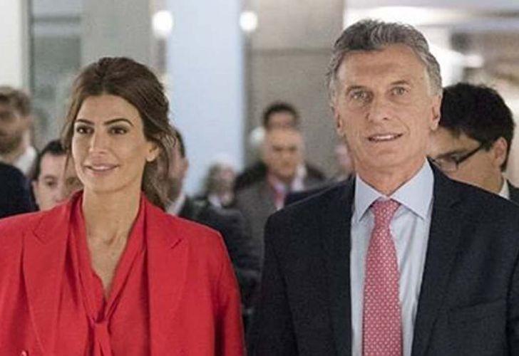 Juliana Awada con Mauricio Macri