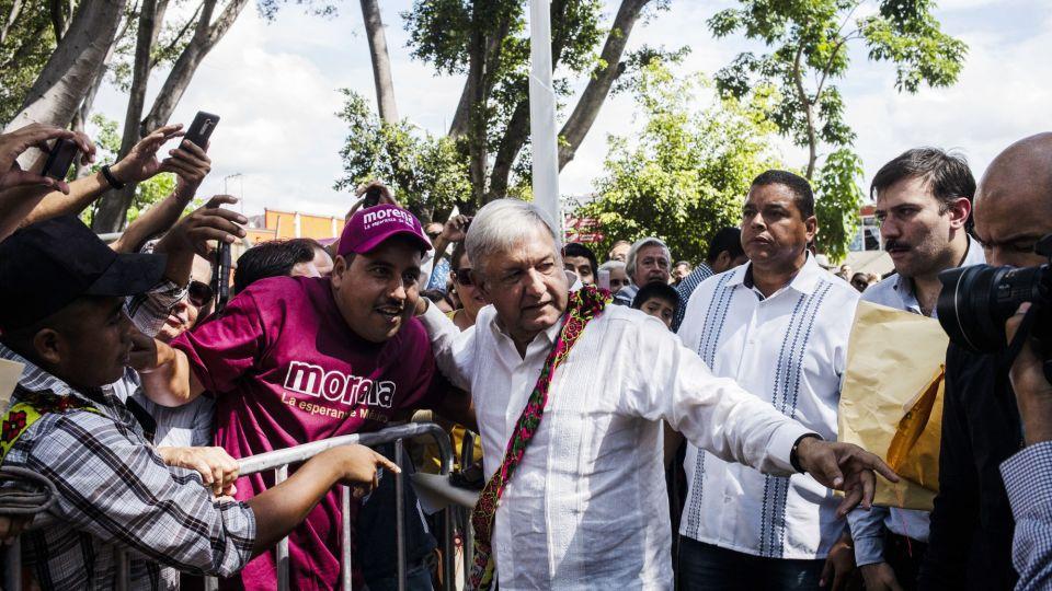 President Elect Lopez Obrador Holds 'Thank You' Tour
