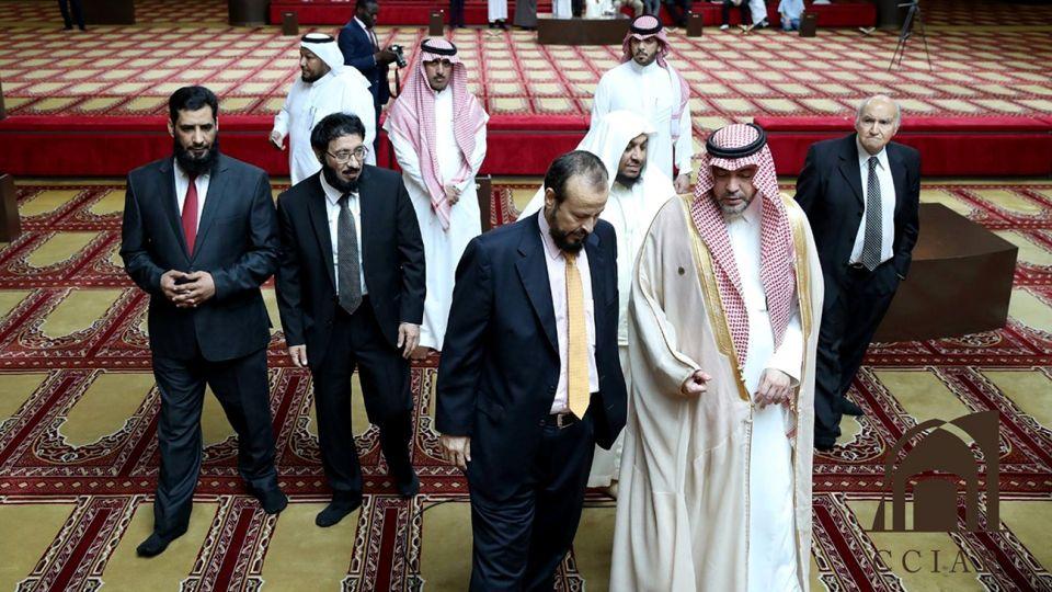 Delegación musulmana del G20 en la mezquita de Palermo