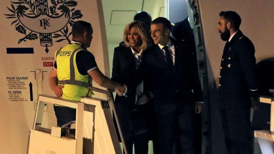 Llegada de Emmanuel Macron a la Argentina.