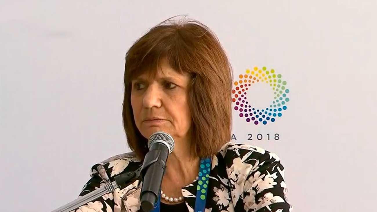 Conferencia de prensa de Patricia Bullrich