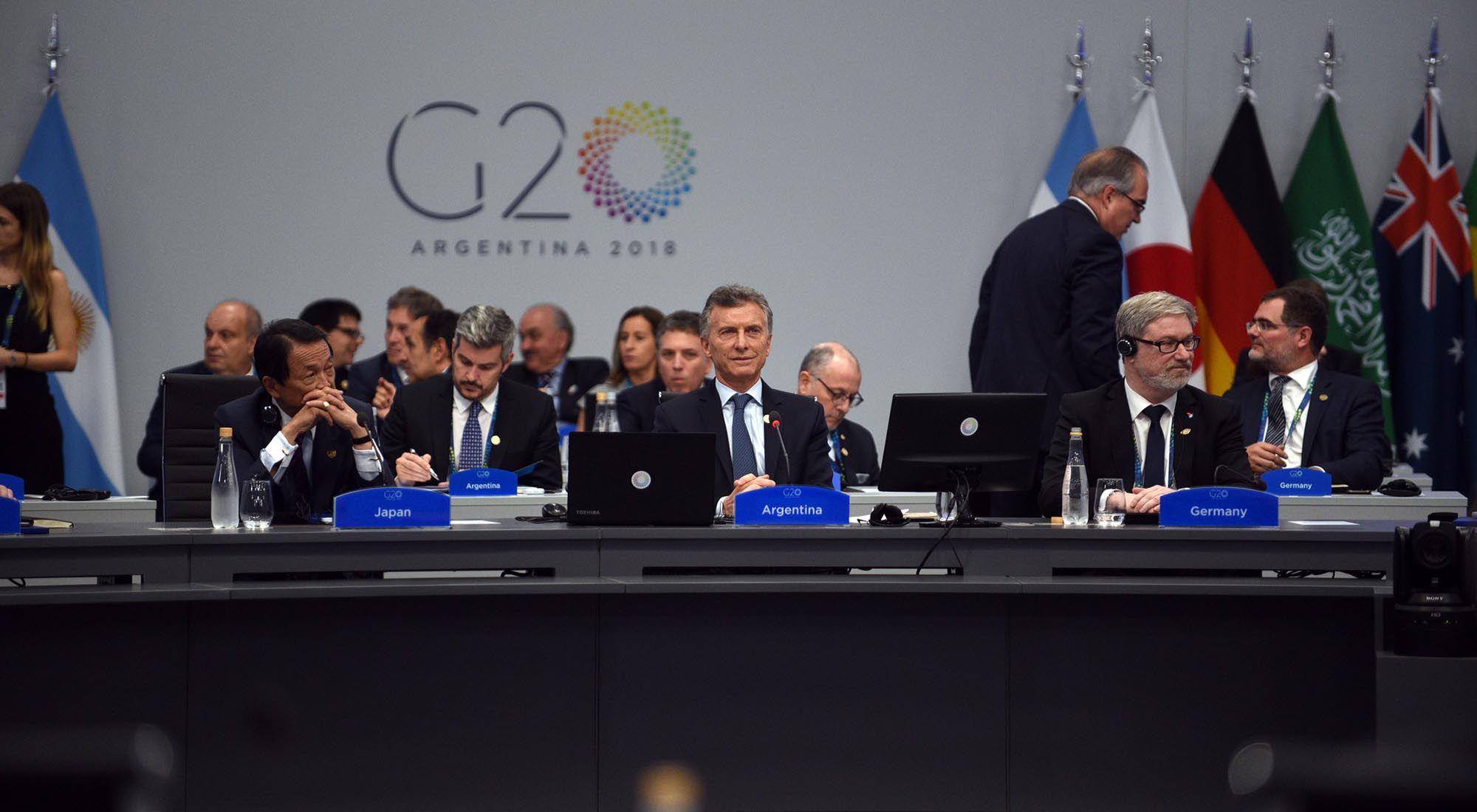 El presidente Mauricio Macri en la apertura de sesiones del G20 en Bs.As.