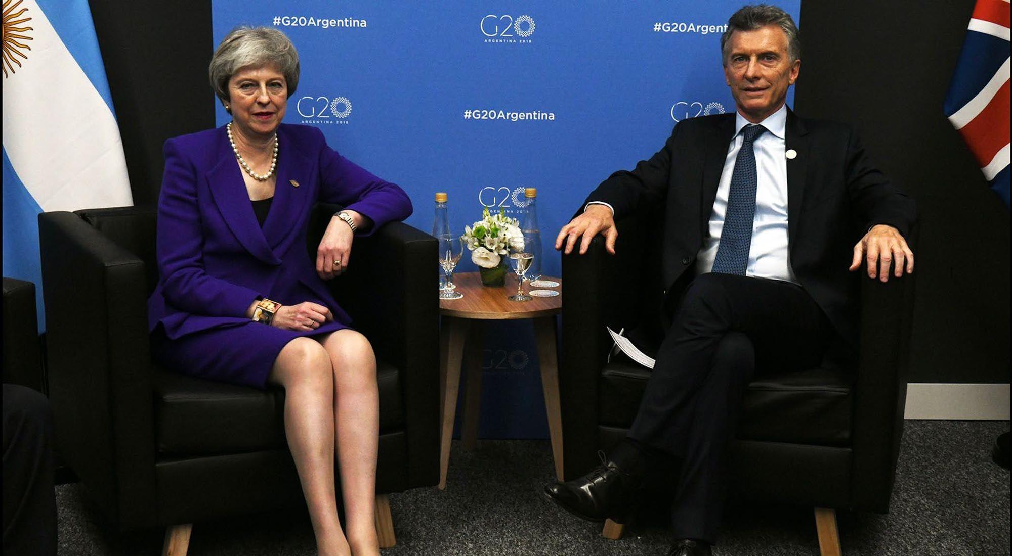 Mauricio Macri y Theresa May se comprometieron a fortalecer el vínculo comercial