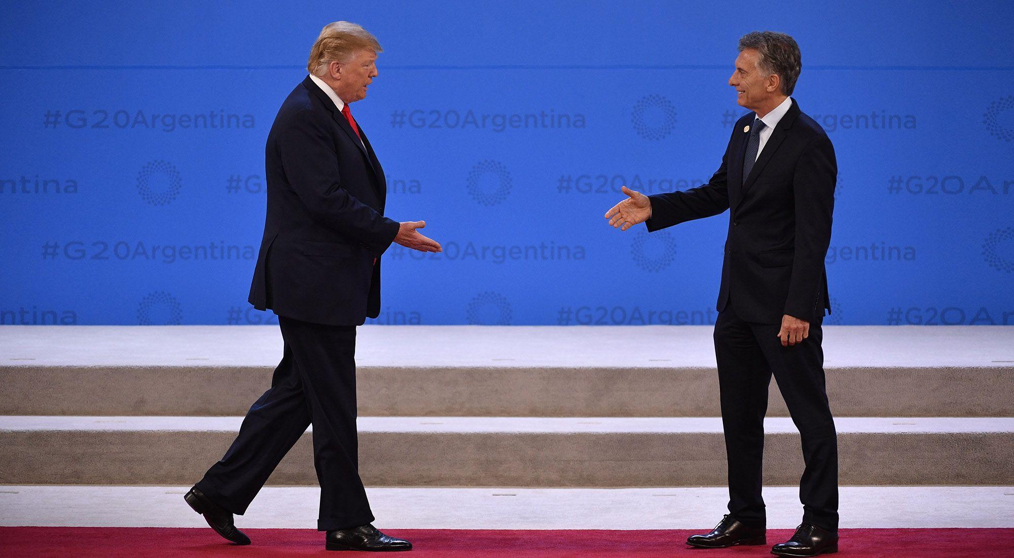 Macri recibe a Trump en Costa Salguero, durante el Plenario del G20 en Argentina.
