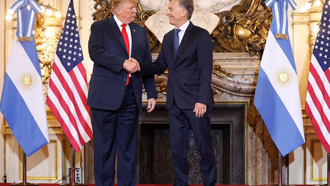 President Mauricio Macri hosted US President Donald Trump at the Casa Rosada this morning.