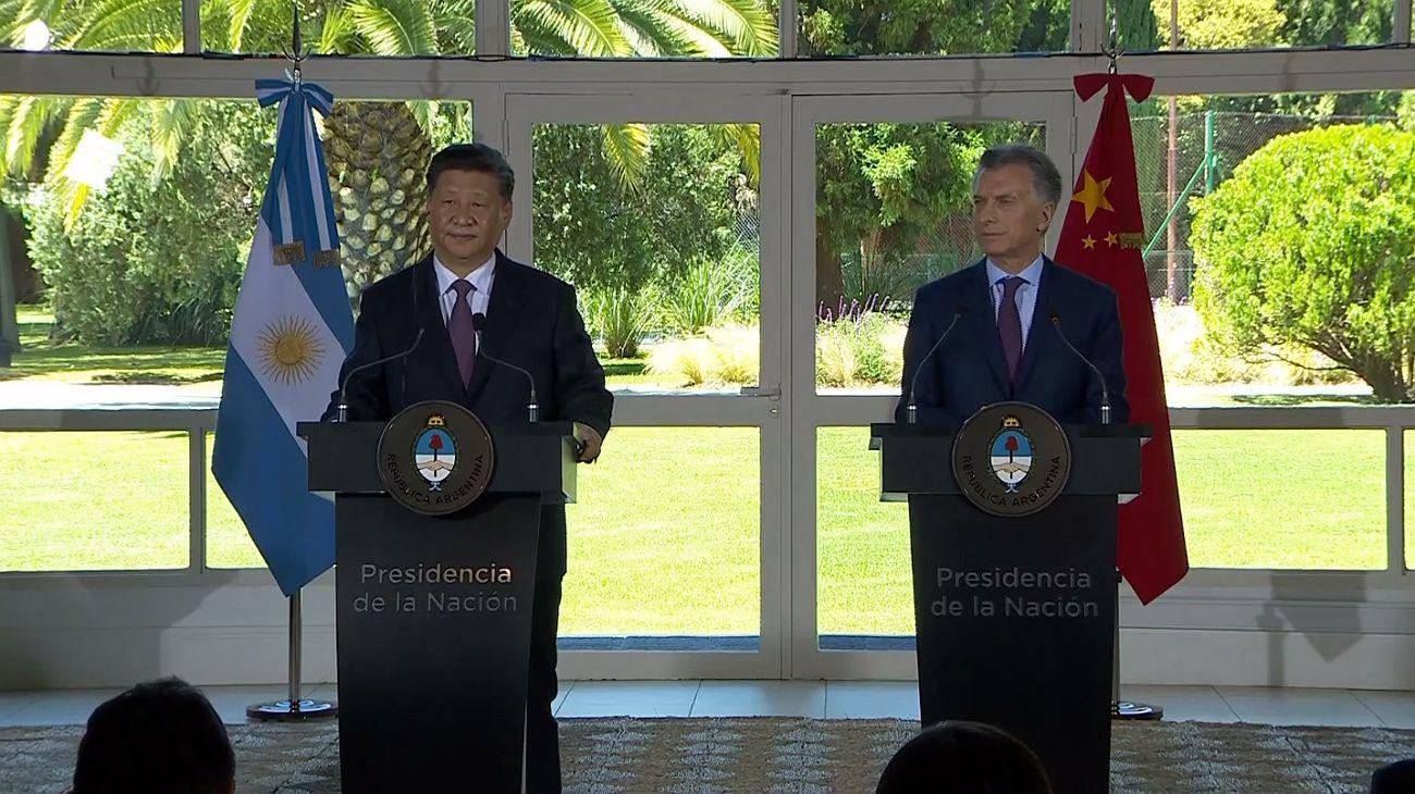 Mauricio Macri y Xi Jinping firmaron más de 30 acuerdos comerciales y estratégicos