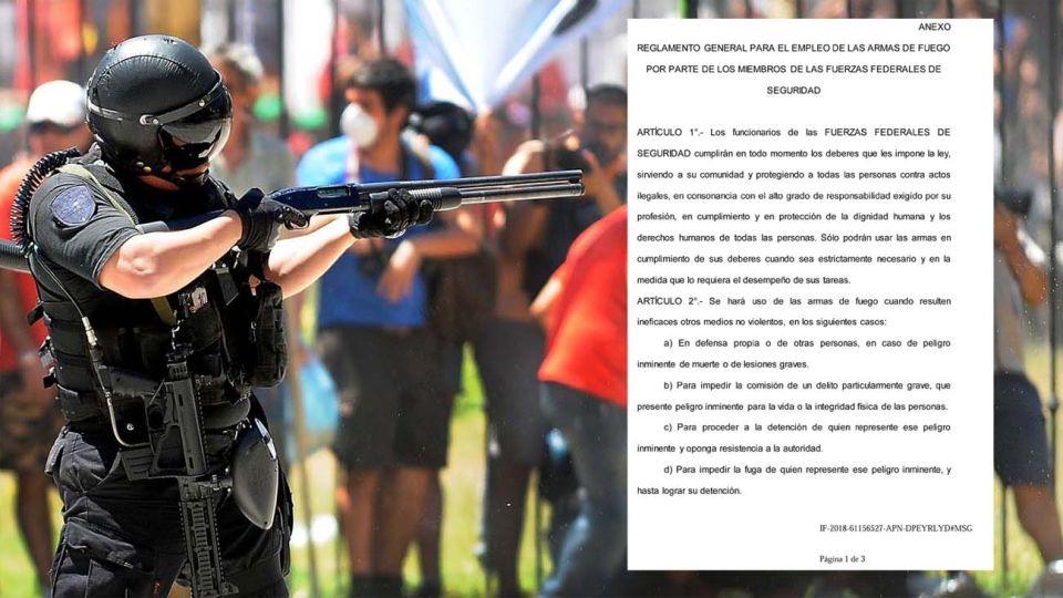 Qué dice la resolución que habilita a la policía a usar armas de fuego sin dar la voz de alto