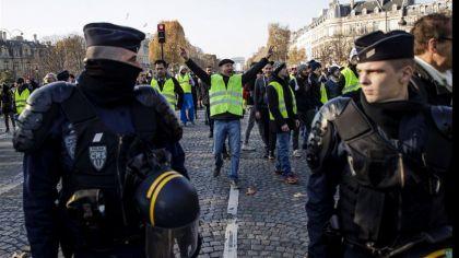 protesta amarilla en francia 04122018