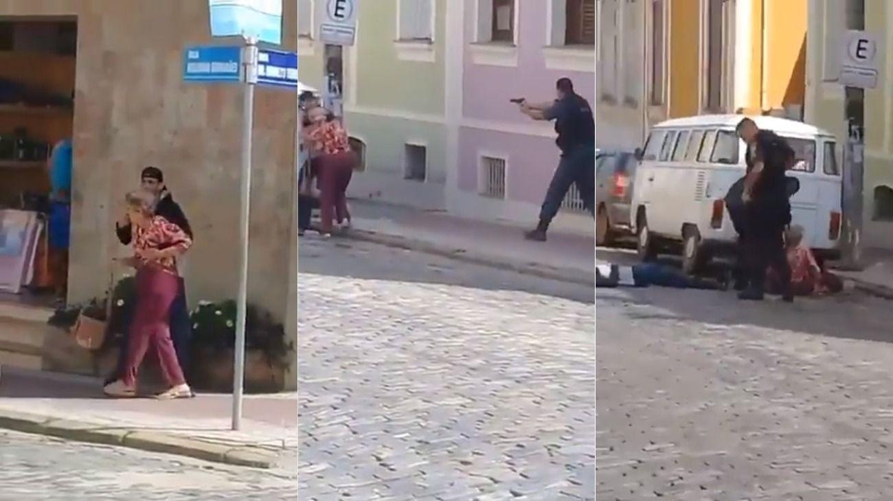 Video: Bolsonaro felicitó a un policía que abatió a un delincuente