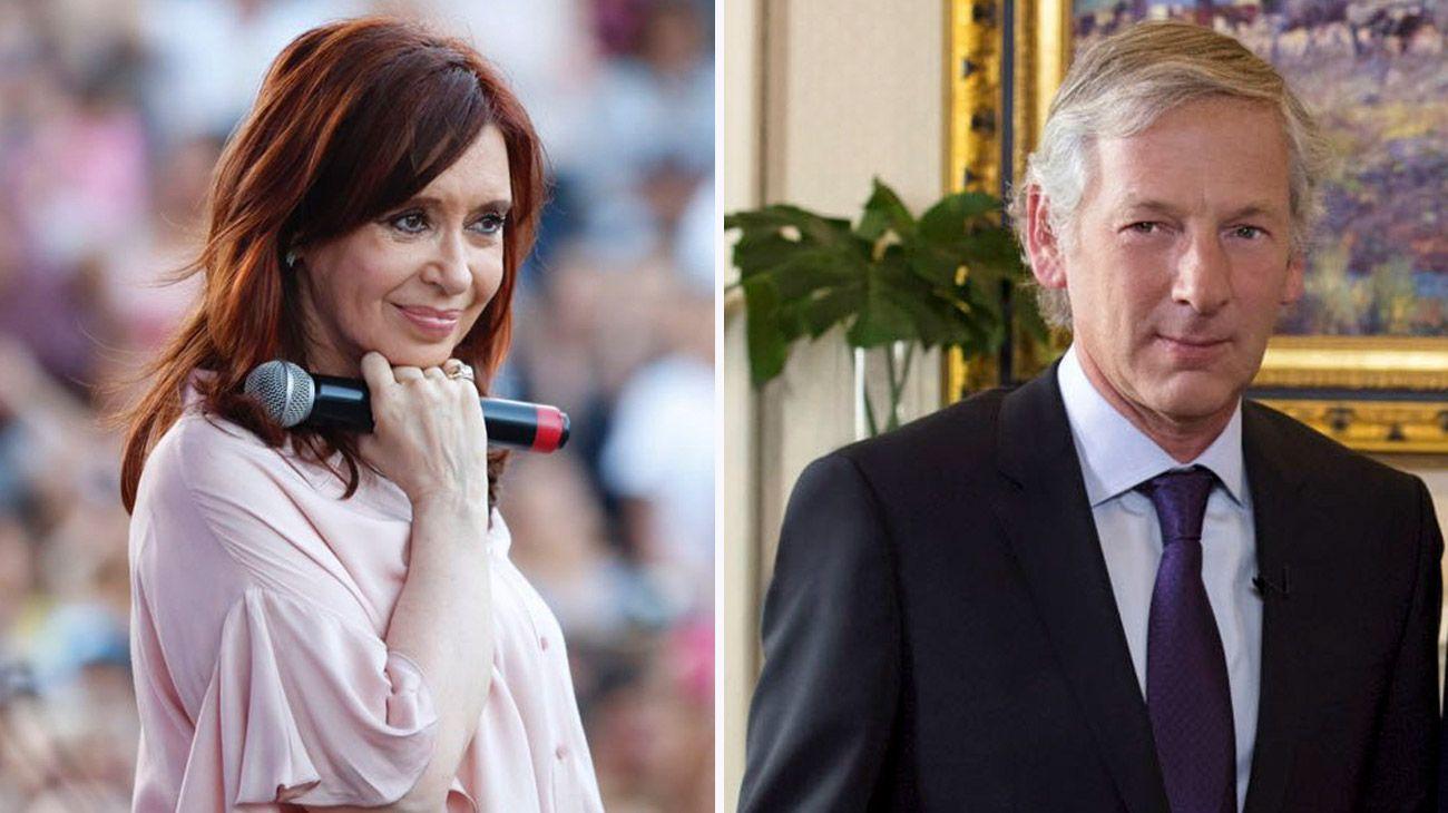 Cristina Kirchner y Marcelo Longobardi