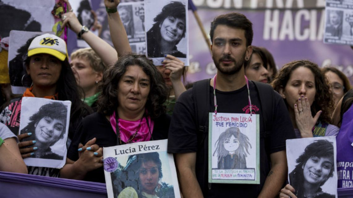 Thousands of protesters – including Lucía Pérez's mother, Marta, and her brother Matías – demonstrated in cities across Argentina this Wednesday.