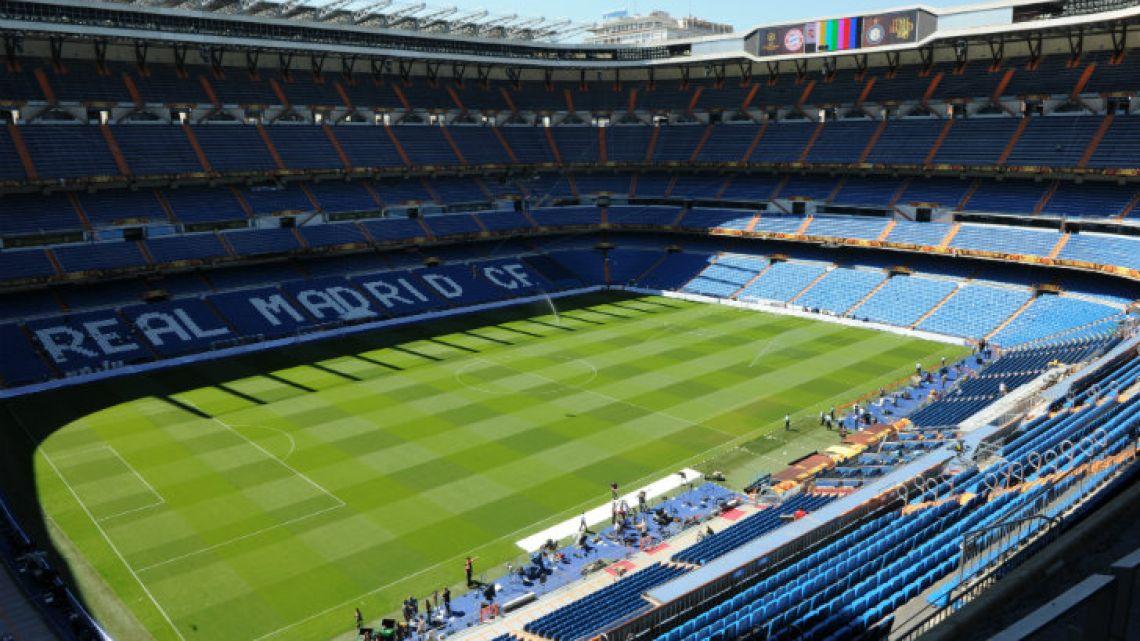Real Madrid's Santiago Bernabeu stadium in Madrid.