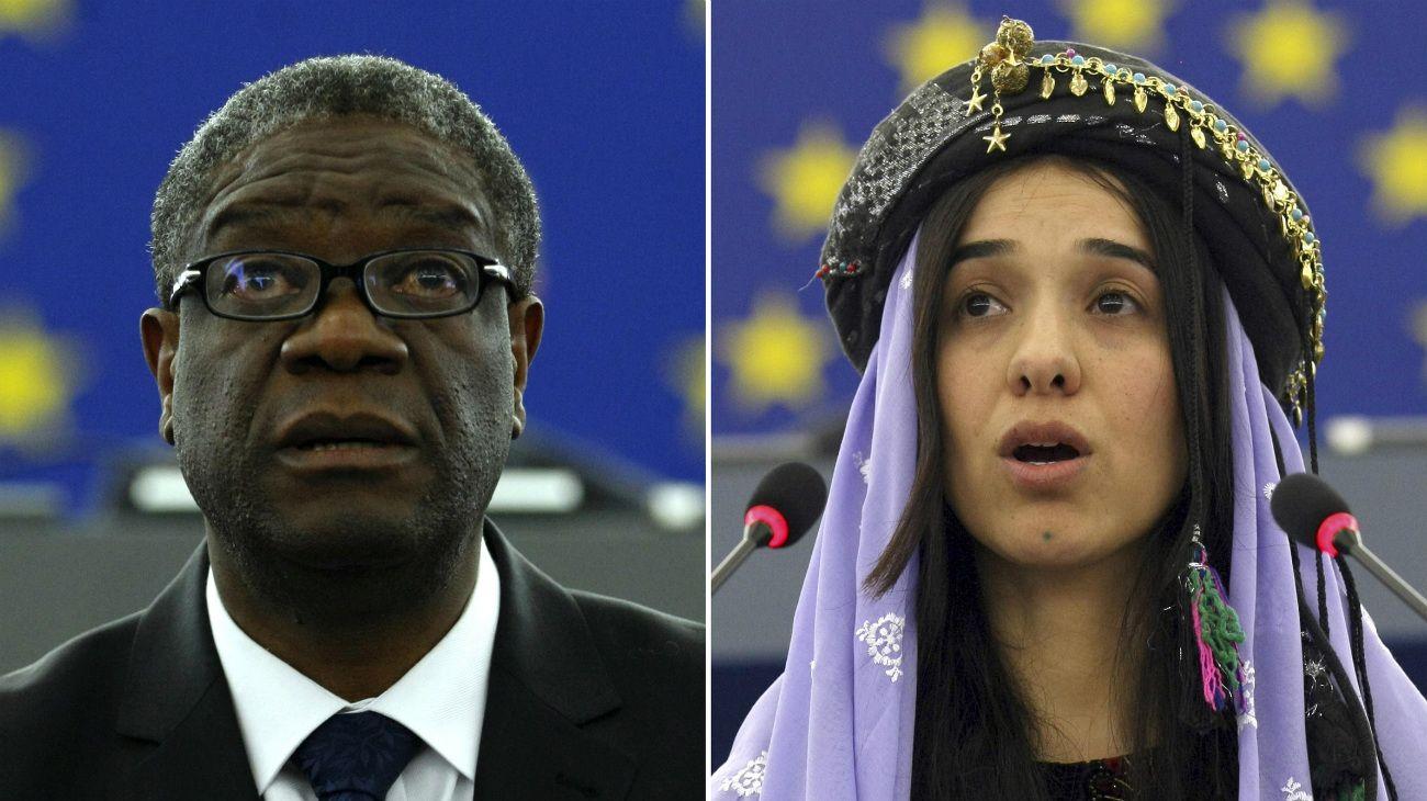 Una iraquí y un congoleño reciben el Nobel de la Paz por su lucha contra la violencia sexual