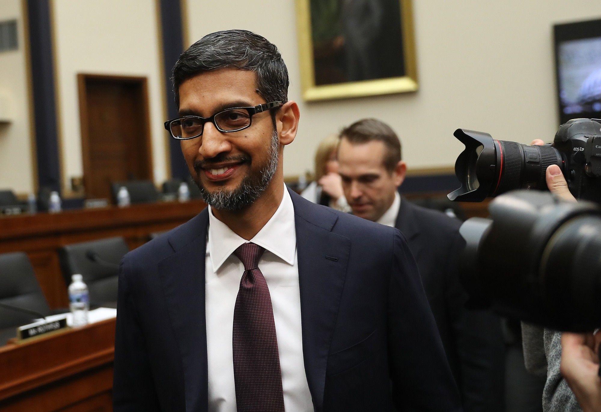 Archivo. El CEO de Google, Sundar Pichai.