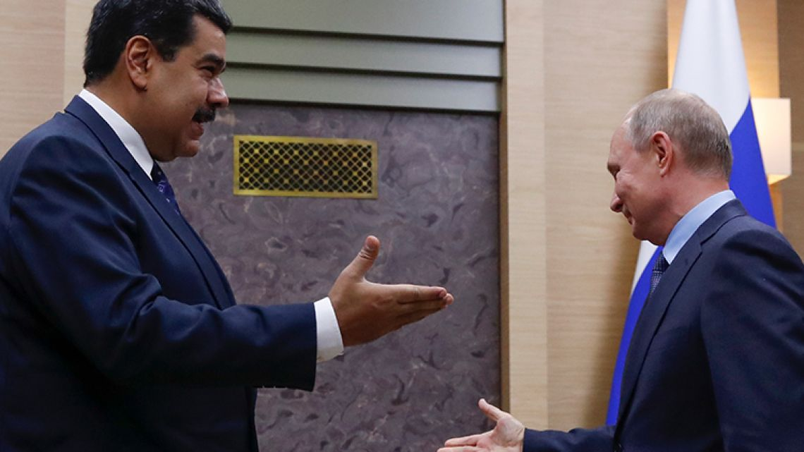 Presidents Nicolás Maduro and Vladmir Putin.