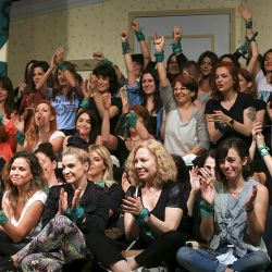Members of the feminist group Actrices Argentinas (Argentine Actresses).