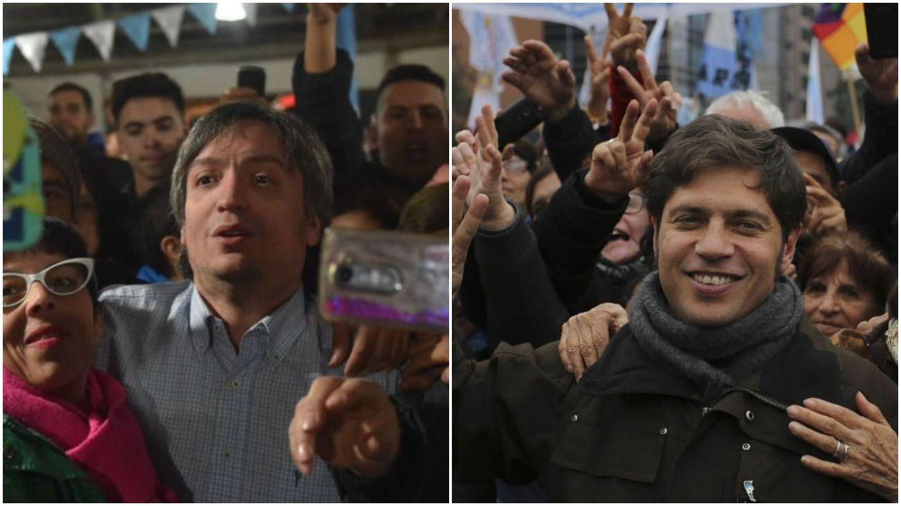 Máximo Kirchner y Kicillof participan de actos y se prueban como candidatos