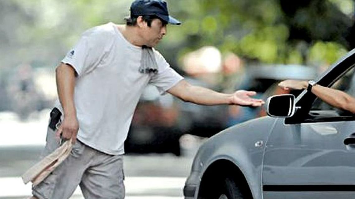 'Trapitos' are people who charge drivers a fee for looking after their vehicles in public parking areas.