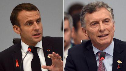 Mauricio Macri y Emmanuel Macron pelean contra la crisis económica.