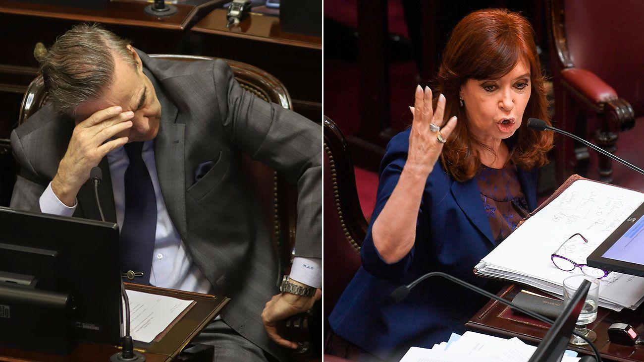 Cristina Kirchner y Miguel Pichetto volvieron a cruzarse en el Senado