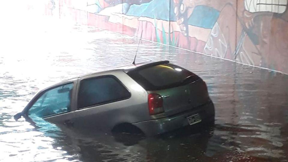 Intenso temporal de lluvia cae sobre Buenos Aires y el Conurbano