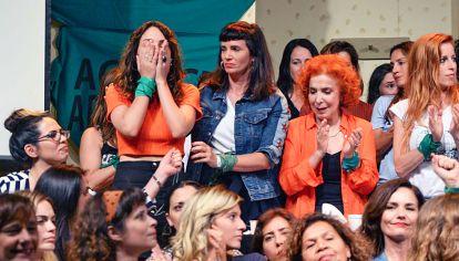 Denuncia. Thelma Fardin contó que fue violada a los 16 años. El Colectivo de Actrices Argentinas la acompañó.