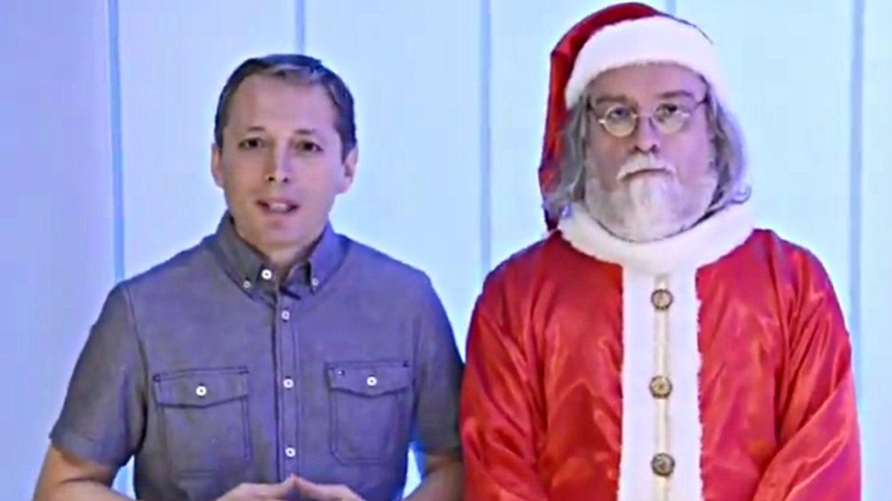 El Papa Noel que saltó la grieta: estuvo con Macri pero festejo con el PJ