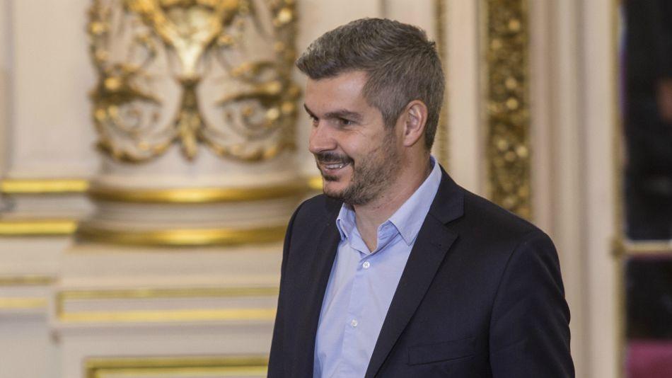 Marcos Peña, jefe de Gabinete, en la Casa Rosada.