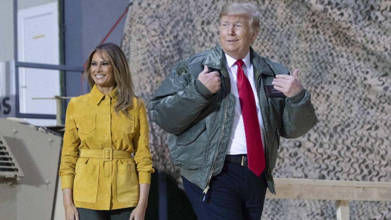 """Trump visitó tropas en Irak: """"No seguiremos siendo el policía del mundo"""""""