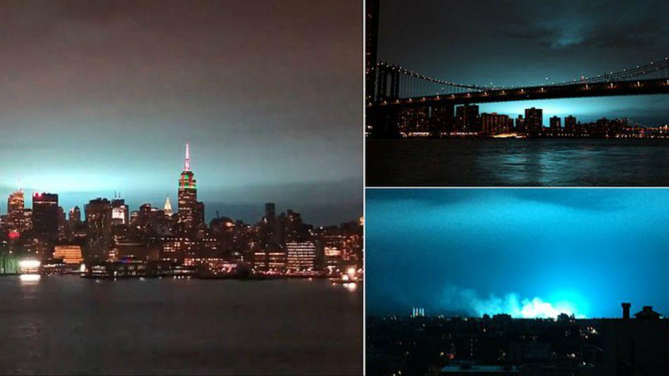 explosion luces azules nueva york