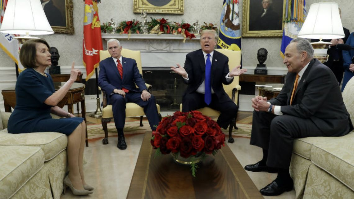 Nancy Pelosi, Mike Pence, Donald Trump and Chuck Schumer.