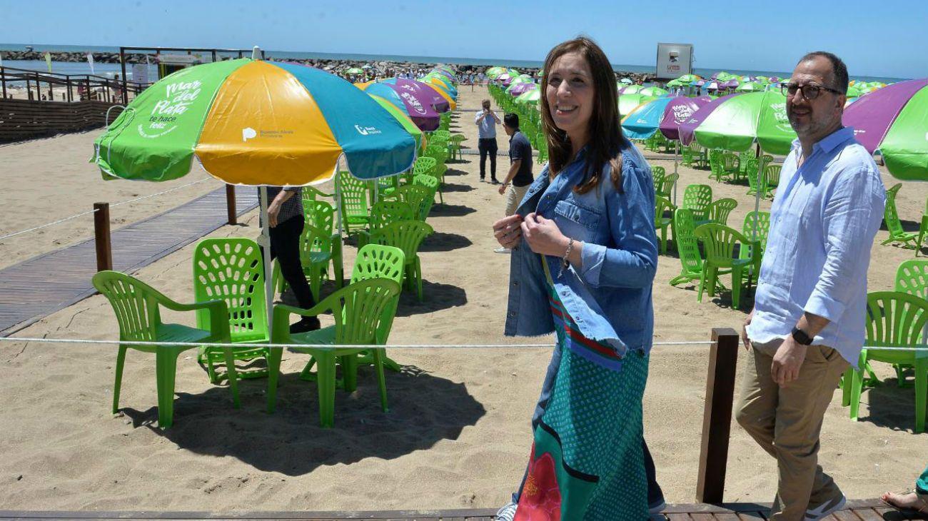 María Eugenia Vidal cuestionó al intendente de Mar Del Plata por retirarse de un acto