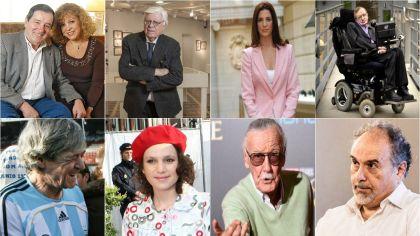 Algunas de las personalidades más destacadas que murieron en 2018.