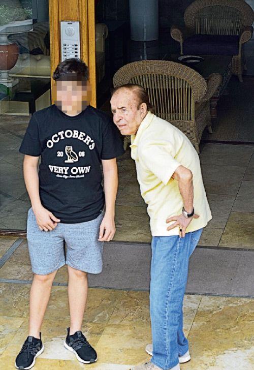 Carlos Menem y su nieto mayor