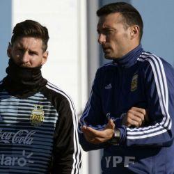 messi scaloni seleccion argentina afp