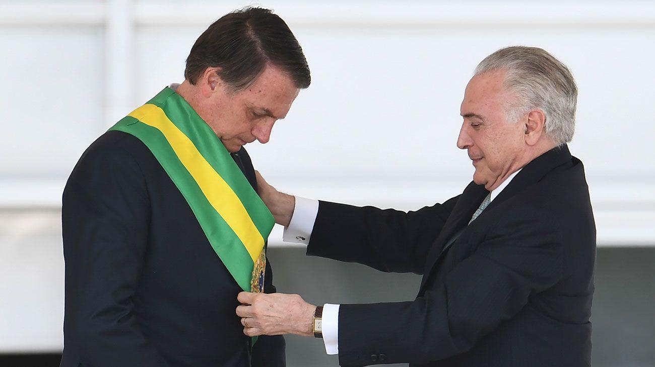 """Tras ser investido por Temer, Bolsonaro prometió """"terminar con el socialismo"""""""