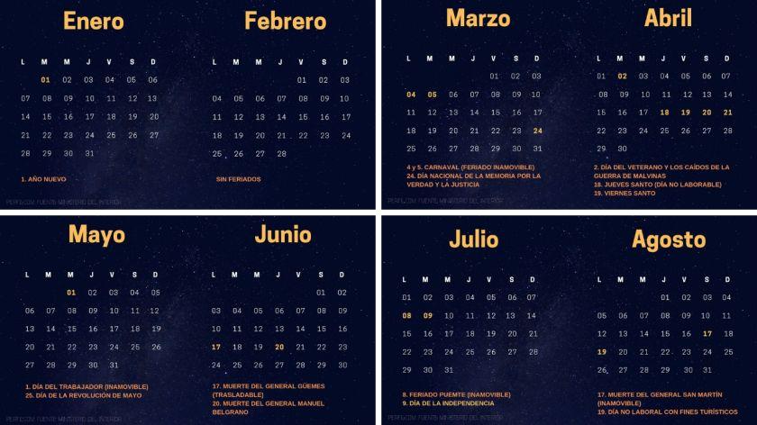 Actualidad: Este es el calendario completo de feriados en 2019