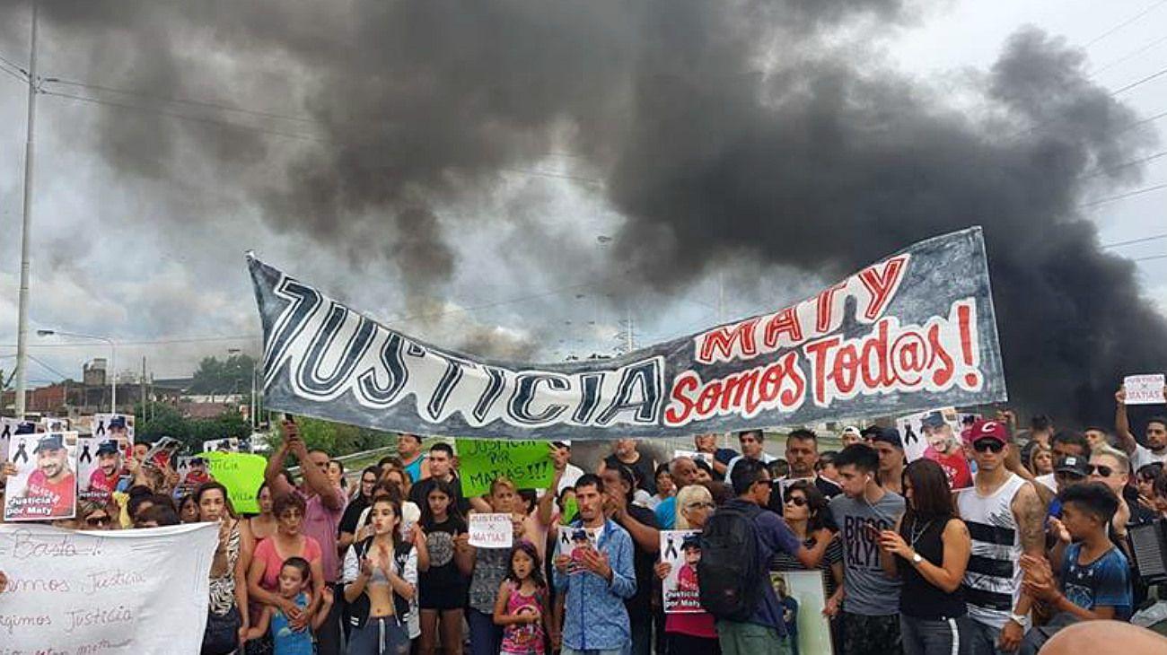 Familiares de Matías Villavicencio marcharon para pedir justicia