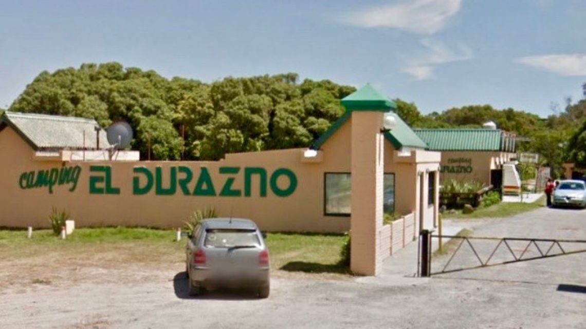 The El Durazno camping complex in Miramar, on Argentina's Atlantic Coast.
