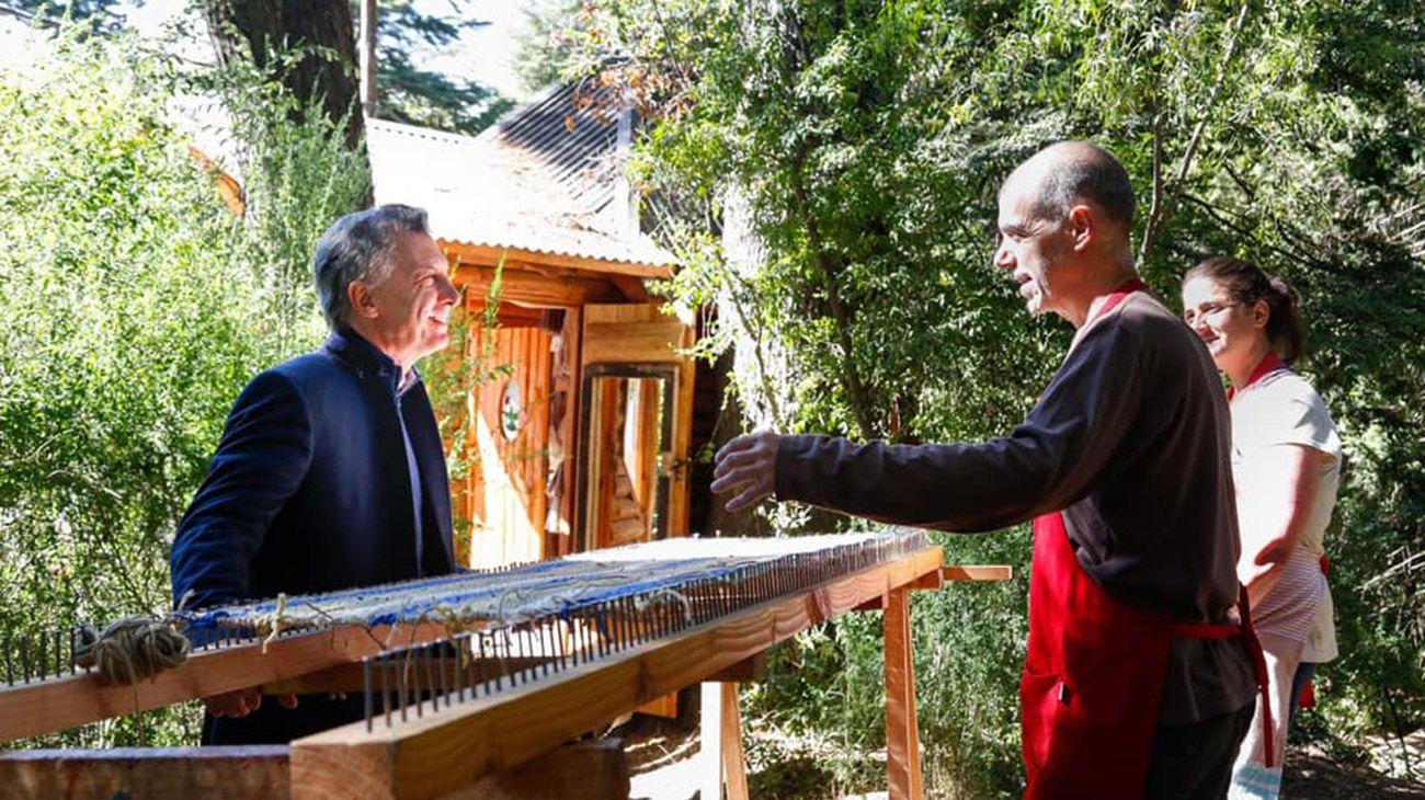 Mauricio Macri de vacaciones en Villa La Angostura.