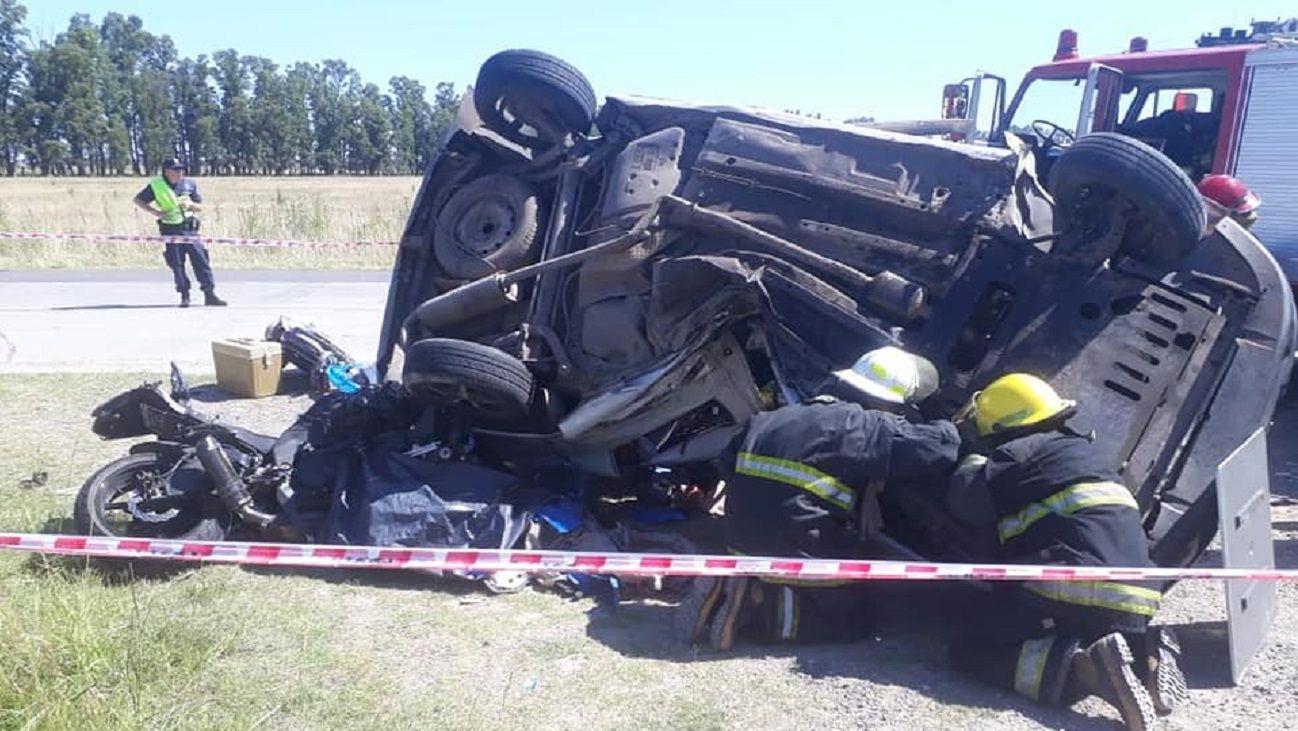 El accidente se produjo en el kilómetro 46, a la altura del distrito de Brandsen.